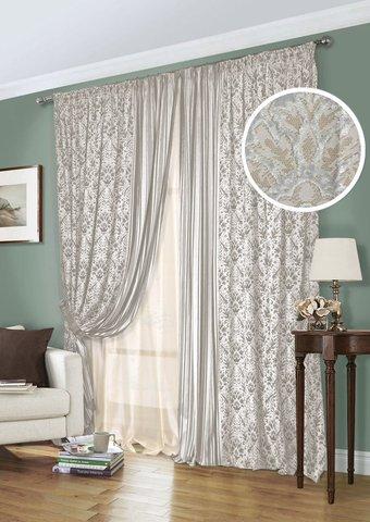 Комплект штор из бархата с подхватами Богема серый