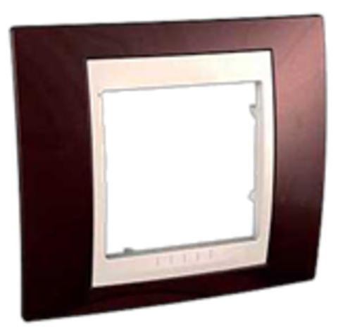 Рамка на 1 пост. Цвет Терракотовый/Бежевый. Schneider electric Unica Хамелеон. MGU6.002.551