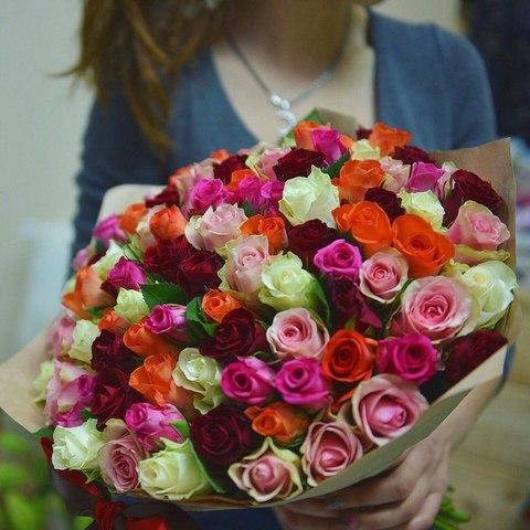 101 роза 40 см в оформлении #1583