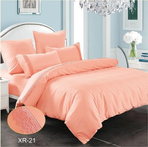 1.5-Спальное однотонное постельное розовое