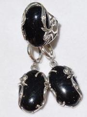 Токала (кольцо + серьги из серебра)