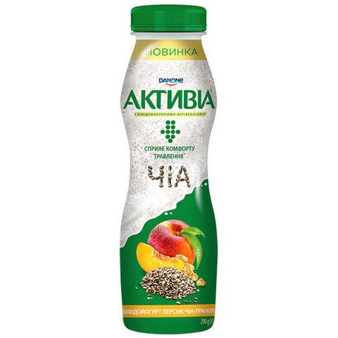 Йогурт питьевой DANONE Персик Чиа Гранола 270 г КАЗАХСТАН