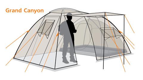 Палатка Canadian Camper GRAND CANYON 4, цвет royal, схема 2.