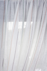 Льняная вуаль - широкая в полосочку