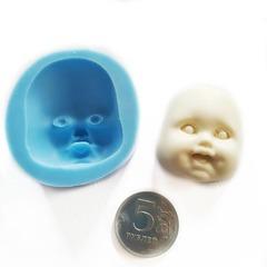 0895 Молд силиконовый. Лицо детское для изготовления куклы.