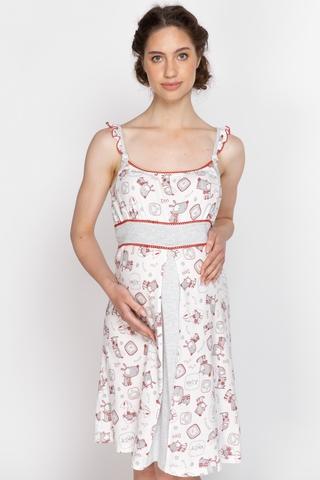 Ночная сорочка для беременных и кормящих 10719 белый