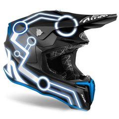 Кроссовый шлем Airoh Twist 2.0 Neon матово - синий M (57-58)
