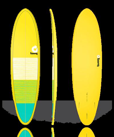 Серфборд TORQ 7'2'' Fun - Lines (yellow/green)