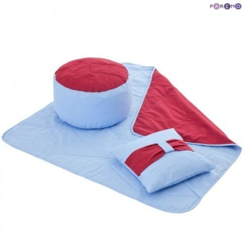 Текстильный домик-палатка Paremo с пуфиком для мальчика Замок Бристоль PCR116-01