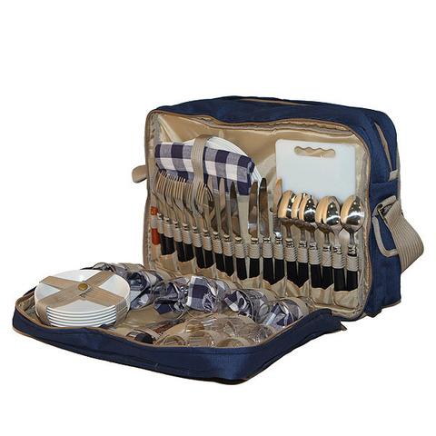 Термосумка с набором для пикника Camping World All Inclusive 6 перс., синяя