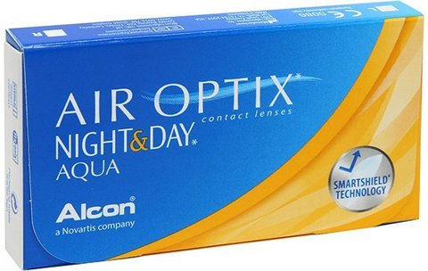 Контактные линзы AIR OPTIX NIGHT&DAY AQUA - 3шт.