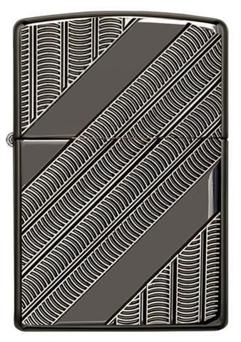 Зажигалка Zippo Armor с покрытием High Polish Black Ice, латунь/сталь, чёрная, 36x12x56 мм123