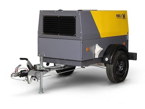 Компрессор дизельный Comprag PORTA 3 на шасси с регулируемым дышлом