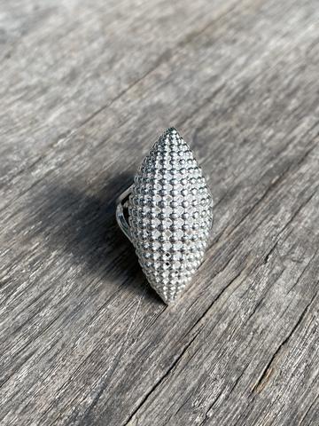 Кольцо Экспена кон, серебряный цвет