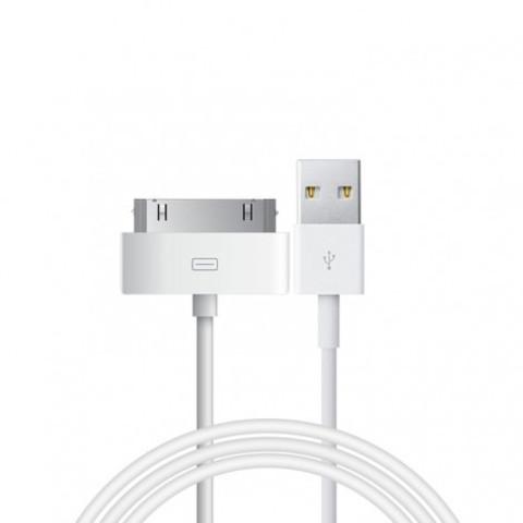 Кабель iPhone 4, катушка, white