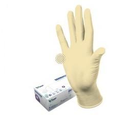 Перчатки медицинские смотровые латексные Dermagrip Classic текстурированные нестерильные неопудренные размер L (100 штук в упаковке)