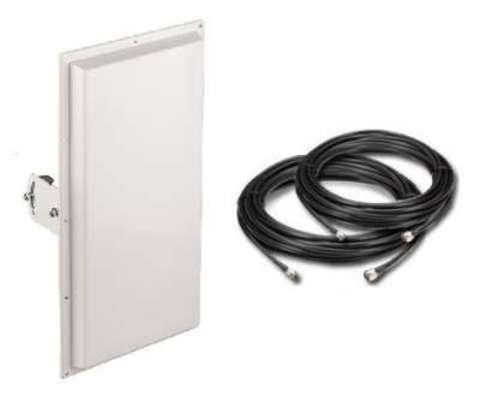 Антенный комплект усиления LTE сигнала для wi-fi роутера Пригородный-4G-MIMO 18 дБ