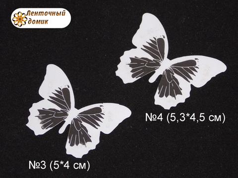 Бабочки  из декоративной пленки белые 3 и 4