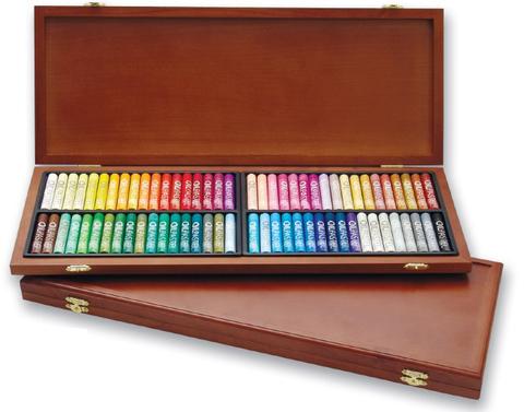 Набор масляной пастели Mungyo 72 цв профес-ая, в деревянной коробке