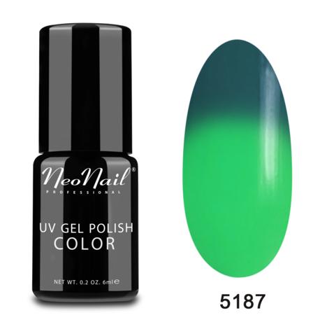 NeoNail Гель-лак UV 6ml Green Lantern Термо №5187-1