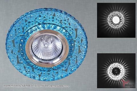 00498-9.0-001CNB MR16+LED3W BL светильник точ.