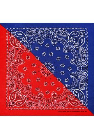 Бандана красно-синяя фото