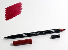 Маркер-кисть Tombow ABT Dual Brush Pen-837, красное вино