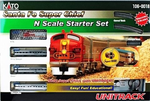 Стартовый набор Kato Santa Fe Super Chief «Пассажирский поезд»