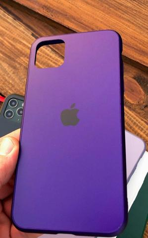 Чехол iPhone X/XS Glass Pastel Matte silicone /ultra violet/