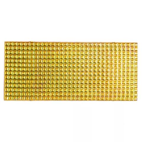 Лычка металл. МВД 20x45 мм. золотая