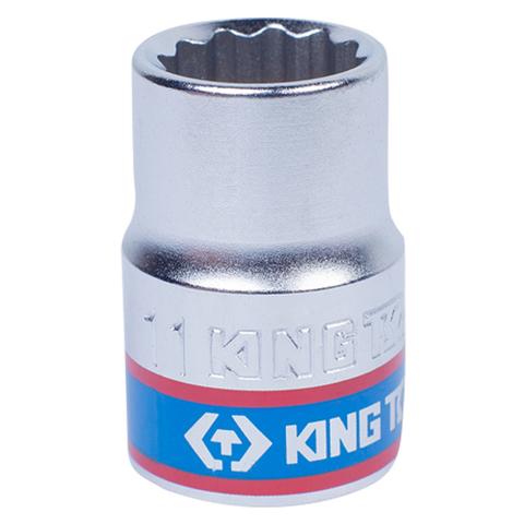 "Головка торцевая стандартная двенадцатигранная 3/8"", 11 мм KING TONY 333011M"