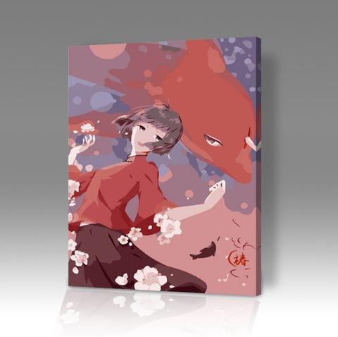 Картина по номерам на холсте Cartoon anime, 40см*50см