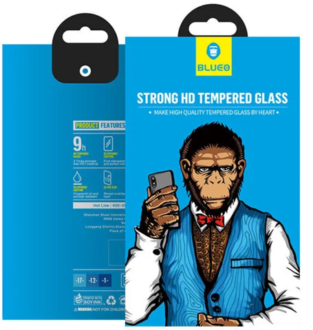 Защитное стекло BlueO для Galaxy A50/A50s закален. с олеоф.покр. | 2.5D рамка черное 0.26мм