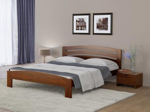 Кровать Веста 2 с основанием коричнево-красный