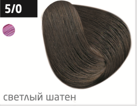 OLLIN color 5/0 светлый шатен 60мл перманентная крем-краска для волос