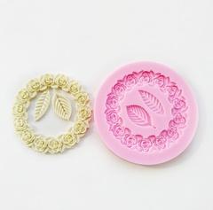 0555 Молд силиконовый Рамка (венок) из роз