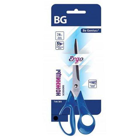Ножницы BG Ergo 18 см синие европодвес NOa180 6504
