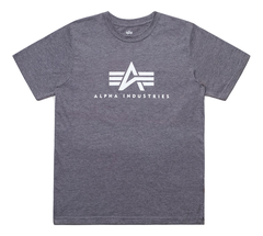 Футболка Alpha Industries Basic Logo Grey Женская (Серая)