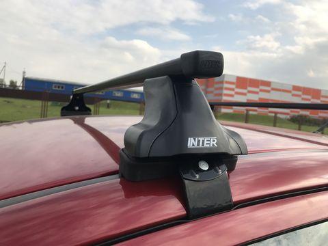 Багажник Интер на Kia Rio IV седан 2017-...  прямоугольные дуги 120 см.