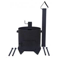Печь с дымоходом для казана 6л усиленная