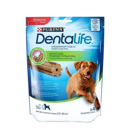 PURINA PRO PLAN Лакомство для собак крупных пород для чистки зубов Dentalife Large 142 гр.