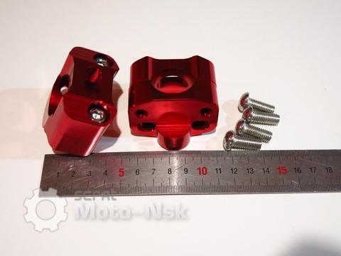 Крепление руля адаптер с 22мм на 28,6 красное