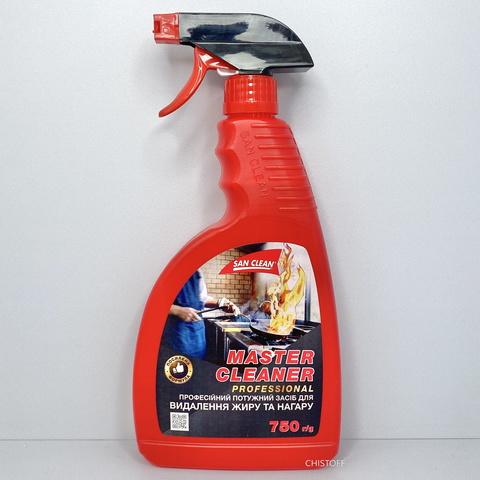 Засіб для видалення жиру San Clean Майстер Клинер Професіонал 750 мл, з розпилювачем