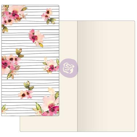Внутренний блок для блокнотов -Prima Traveler's Journal Notebook Refill - Scribble Lines Floral W/Ivory Paper