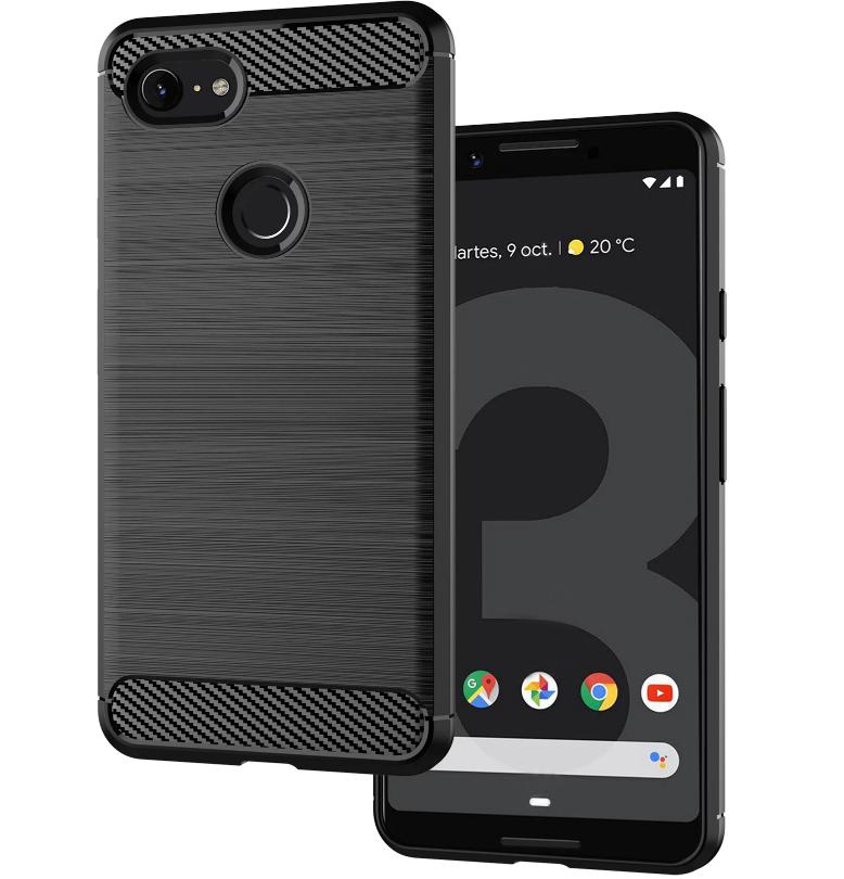 Чехол на Google Pixel 3 XL цвет Black (черный), серия Carbon от Caseport