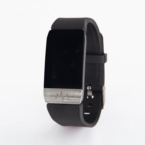 Браслет здоровья с автоматическим измерением давления, пульса, кислорода и снятием ЭКГ Health Band №1S (чёрный)