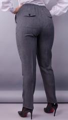 Элия лён. Женские батальне брюки в классическом стиле. Серый.