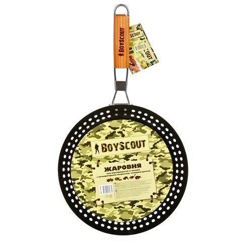 Жаровня для морепродуктов и овощей с антипригарным покрытием, складной ручкой, 53х30х3 см