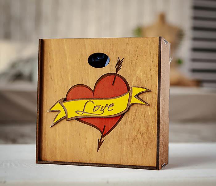BOX237-2 Подарочная коробка для влюбленных (17*17*7 см)