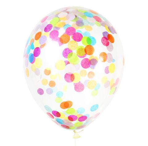 Воздушные шары с конфетти разноцветные